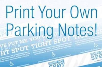 photo about Parking Notes Printable identify Transport
